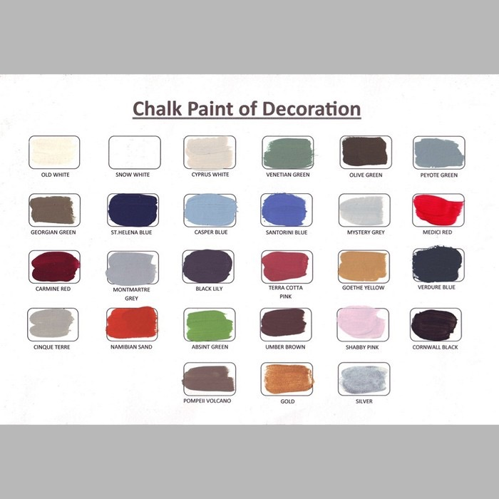 hand painted color chart of Decoration